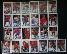 1991-92 Topps Montreal Canadiens Team Set of 25 Hockey Cards