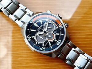 Citizen Eco Drive  -  Men's Chandler Black Dial Chronograph Watch -  CA4330-57E