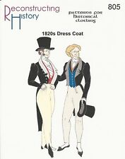 Schnittmuster Reconstructing History RH 805 Paper Pattern 1820s Dress Coat