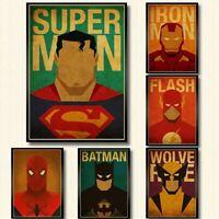 18x Marvel Superhelden DC Comic Bild Poster Film Superhero selten sammeln Deko