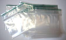 100 Stück Zip Beutel 80x60mm 90µ transparent + green line Druckverschlußbeutel
