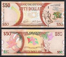 GUAYANA - GUYANA 50 DÓLARES 2016 CONMEMORATIVO Pick Nuevo     SC  UNC