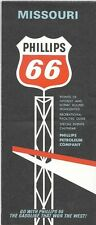 1966 PHILLIPS OIL Road Map MISSOURI Route 66 Ozark Mountains Joplin Springfield