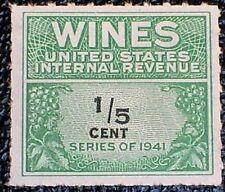 1942 1/5c Re108 U.S. Internal Revenue, Wines, Mint Nh Ngai F-Vf