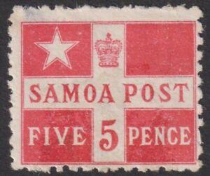 SAMOA  1894  5d  M/Mint   (p113).
