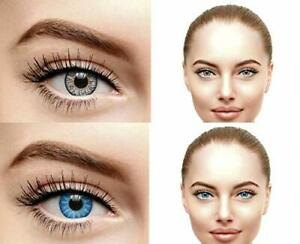 Soft Eye Grey & Sky Blue Color Lens with Case and Solution 2 Pair