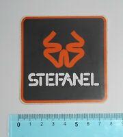 ADESIVO VINTAGE STICKER AUTOCOLLANT STEFANEL ANNI '80 8x8 cm BELLO E RARO
