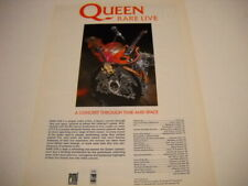 Queen vintage Uk mag full pg. Frameable Poster Advt Concert Through Time & Space