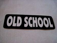 OLD SCHOOL  BIKER ,RAT ROD,HOT ROD ,MOTORCYCLE ,HELMET,HARD HAT  STICKER/DECAL