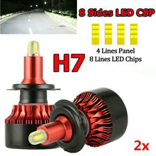 CSP 8 Sides H7 LED Headlight Bulbs Fog Lamp 360 Degree 460000LM 6000K Car Lights