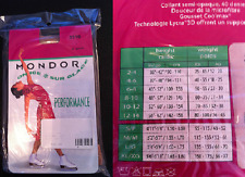 New listing New Mondor 3310 Nylon/Lycra footed tights color 82 Suntan Girls size 10 12