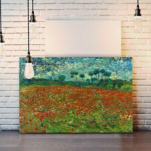 Van Gogh Poppy field Poppies CANVAS WALL ART PAINTING PRINT ARTWORK CLASSIC