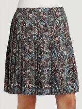 NWT LA VIA 18 Lavia 44 pleated paisley skirt above knee multi color Italy $385