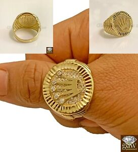 10k Yellow Gold Men's Crown Ring Beautiful Design Band 8 Grams KING QUEEN, Real.