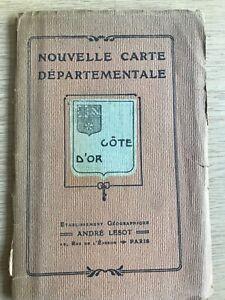 André Lesot Nouvelle Carte Departmentale; Cote D'Or.
