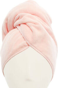 Easy To Use Super Absorbent Microfiber Hair Towel Pink