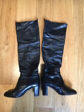 Chanel Black Leather Boots, 38