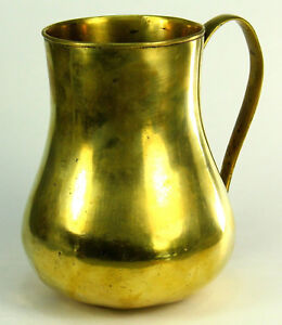 c.1450 Medieval EARLY & Thick Single-Cast Bronze/Bell Metal Mug, Drinking Vessel
