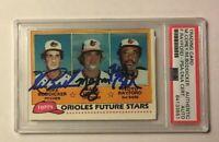 1981 Topps Signed MIKE BODDICKER FLOYD RAYFORD MARK COREY Baseball Card PSA/DNA