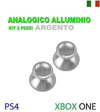 ANALOGICO ALLUMINIO ARGENTO CONTROLLER THUMBSTICKS SONY PS4 XBOX ONE RICAMBIO