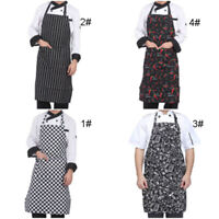 Adjustable Aprons For Women Men Kitchen Chef With 2 Pockets Cooking Bib Dress