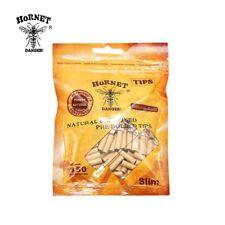 150/pack Hornet 5mm Natural Unrefined Pre-rolled Paper Brown Tips Slim
