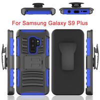Shockproof Hybrid W/Holster Belt Clip Stand Case For Samsung Galaxy S9 /S9 Plus