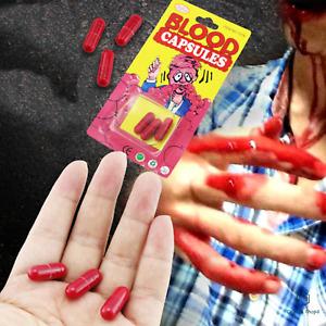 3Pcs fake blood capsules pill halloween make-up prank toy vampire fancy dress