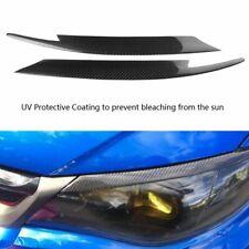 Car Styling Carbon Fiber Headlights Eyebrows Stickers For Subaru Impreza WRX STI