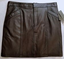 Uniform Petite John Paul Richard Brown Genuine Lamb Leather Skirt Size 10P