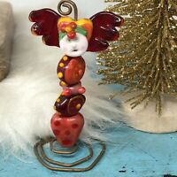 Artisan Lampwork Glass Bead Whimsical Glass Doll SylvieBeads Sylvie Lansdowne