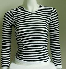 Striped Tops Long sleeves stretch opaque OSFA 4 Colours Costume Dance