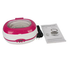 New Mini Digital Ultrasonic Cleaner 600ML for Jewelry Eyeglasses Tattoo Red