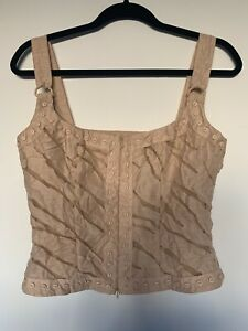 Vintage G2 By George Gross Linen Blend Bustier Top 10