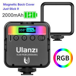 Ulanzi VL49 2500-9000K Full Color Mini RGB LED Video Light Magnetic on the back