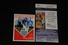 MIGUEL CABRERA 2008 TOPPS HERITAGE SIGNED AUTOGRAPHED GAME USED JERSEY CARD JSA