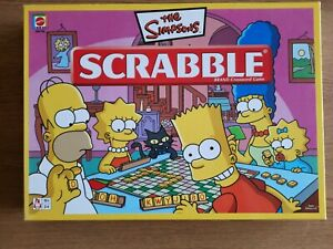 The Simpsons Edition Scrabble Board Game Mattel 2005