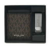 Michael Kors Men's Gifting Money Clip Card Case Box Set Wallet Credit Card