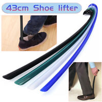 Plastic Long Handle Shoehorn Flexible Shoe Horn Lifter Disability Aid Stick 42cm