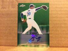 2015 Leaf Metal Draft Prismatic Green Auto Julio Urias /10 Los Angles Dodgers