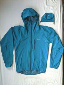Rab charge waterproof jacket running walking hiking 40D Pertex Shield Mens Small