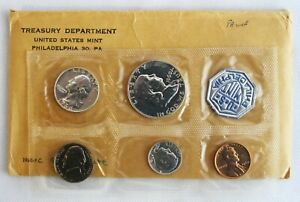 1960 US Proof Set Small Date 1c Coin 3 Silver Coins 5 Coins Set Philadelphia
