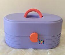 Vintage 90s Caboodles Purple Multi Level Large Travel Makeup Case Organizer