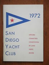 Vtg 1970s San Diego Yacht Club 1972 Officers Committees By-Laws Fleets Roster