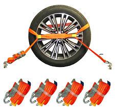 4x Sangle VOITURE TRANSPORTS Arrimage Sécurité pneu VOITURE AUTOMOBILE (21)