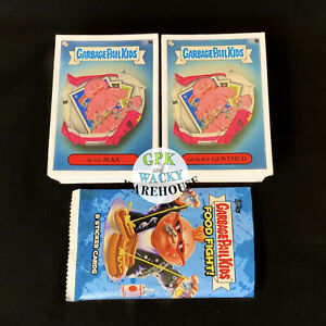 2021 SERIES 1 GARBAGE PAIL KIDS FOOD FIGHT 200-CARD COMPLETE BASE SET +WRAPPER!