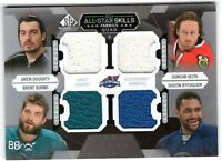 DOUGHTY BURNS KEITH BYFUGLIEN 2015-16 SP Game Used AS Skills Fabrics QUAD
