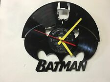 Repurposed Vinyl Record Clocks and Wall Art -  Batman LP Clock
