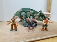 IMAGINEXT DINOSAUR FIGURE TRICERATOPS & CAVEMAN LOT of 4  FISHER PRICE 2004