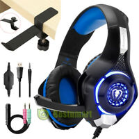 LED Pro Gamer Gaming Headset Stereo Headphone for PS4/Xbox One/Nintendo Switch